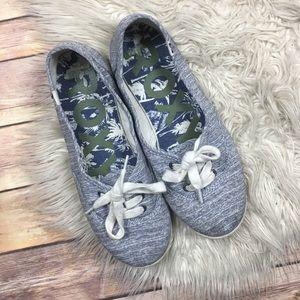 Roxy | Kit II Slip-On Heather Grey Sneaker Flats